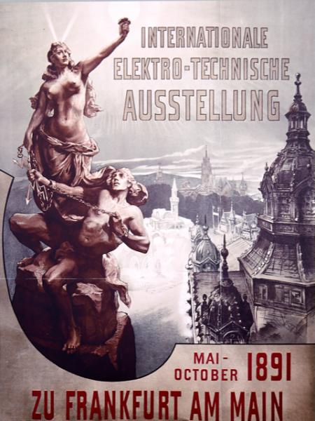© Ein Plakat für die Internationale elektro-technische Ausstellung vom 1891
